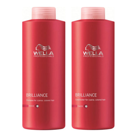 Wella Brilliance Kit Shampoo 1000ml Conditioner 1000ml thick hair