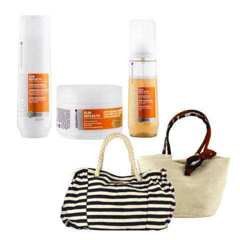 Goldwell Dualsenses Sun reflects Kit Shampoo 250ml Treatment 200ml UV spray 150ml Sac de plage cadeau!