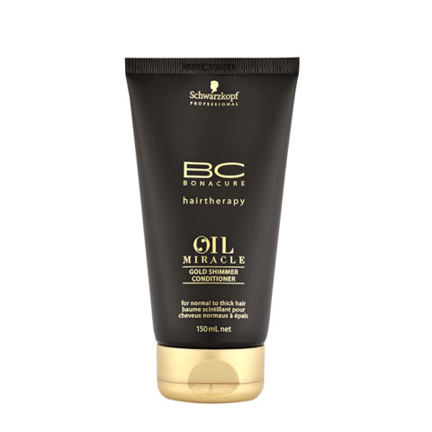 Schwarzkopf Professional BC Oil miracle Gold shimmer Conditioner Normal to thick hair 150ml - Conditionneur lissant