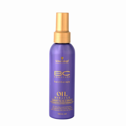 Schwarzkopf Professional BC Oil miracle Barbary fig oil & keratin Restorative conditioning milk 150ml - multifonctions