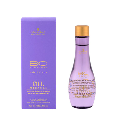 Schwarzkopf Professional BC Oil miracle Barbary fig oil & keratin Restorative treatment 100ml - Huile multifonctions