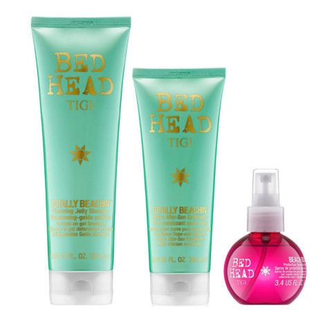 Tigi Bed Head Totally Beachin' Kit Shampoo 250ml Conditioner 200ml Protection Spray 100ml