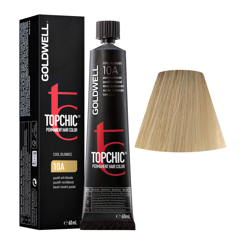 10A Blond cendré pastel Goldwell Topchic Cool blondes tb 60ml