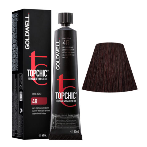 4R Acajou foncé brillant Goldwell Topchic Cool reds tb 60ml