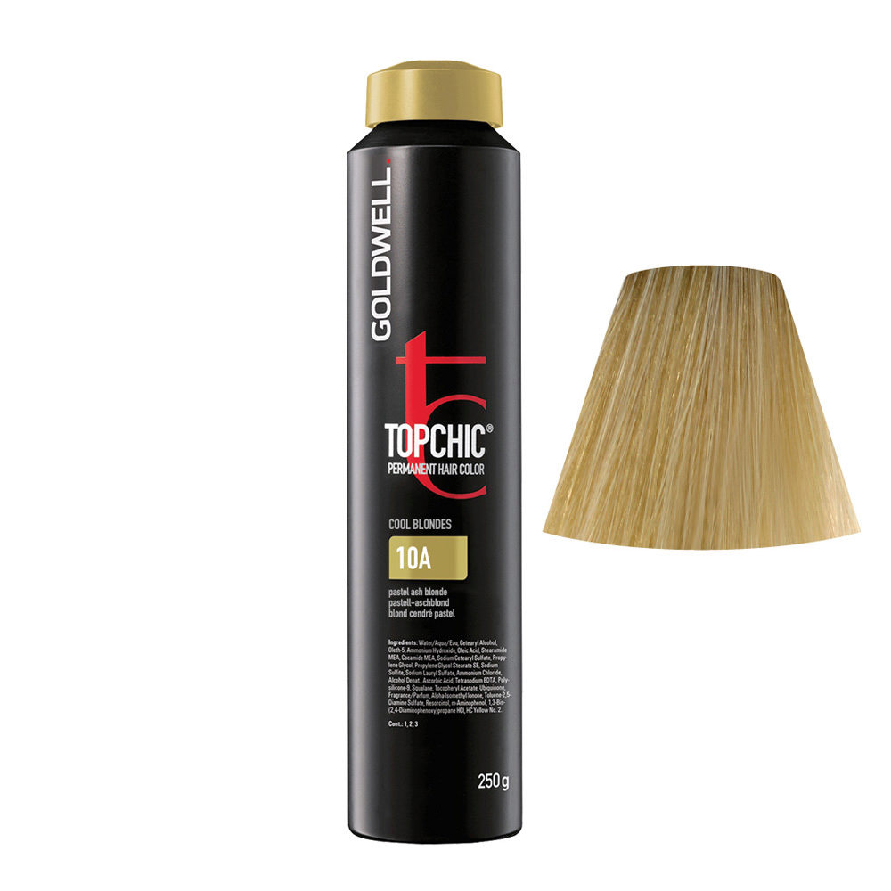 10A Blond cendré pastel Goldwell Topchic Cool blondes can 250gr