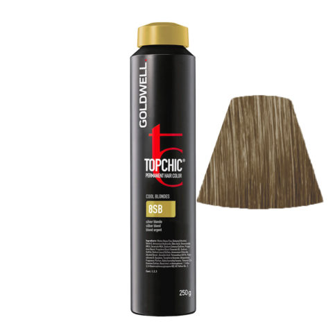 8SB Blond argent Goldwell Topchic Cool blondes can 250gr