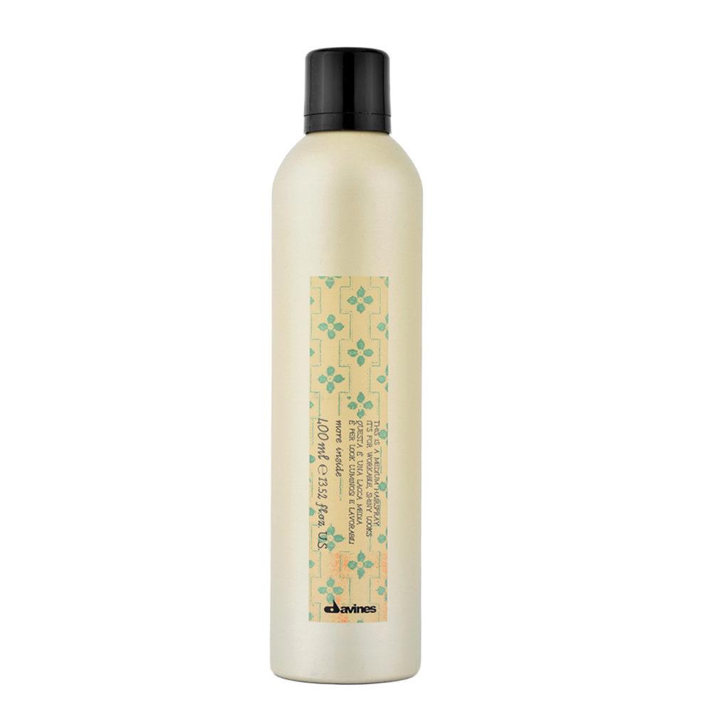 Davines More inside Medium hairspray 400ml - spray de finition remodelable