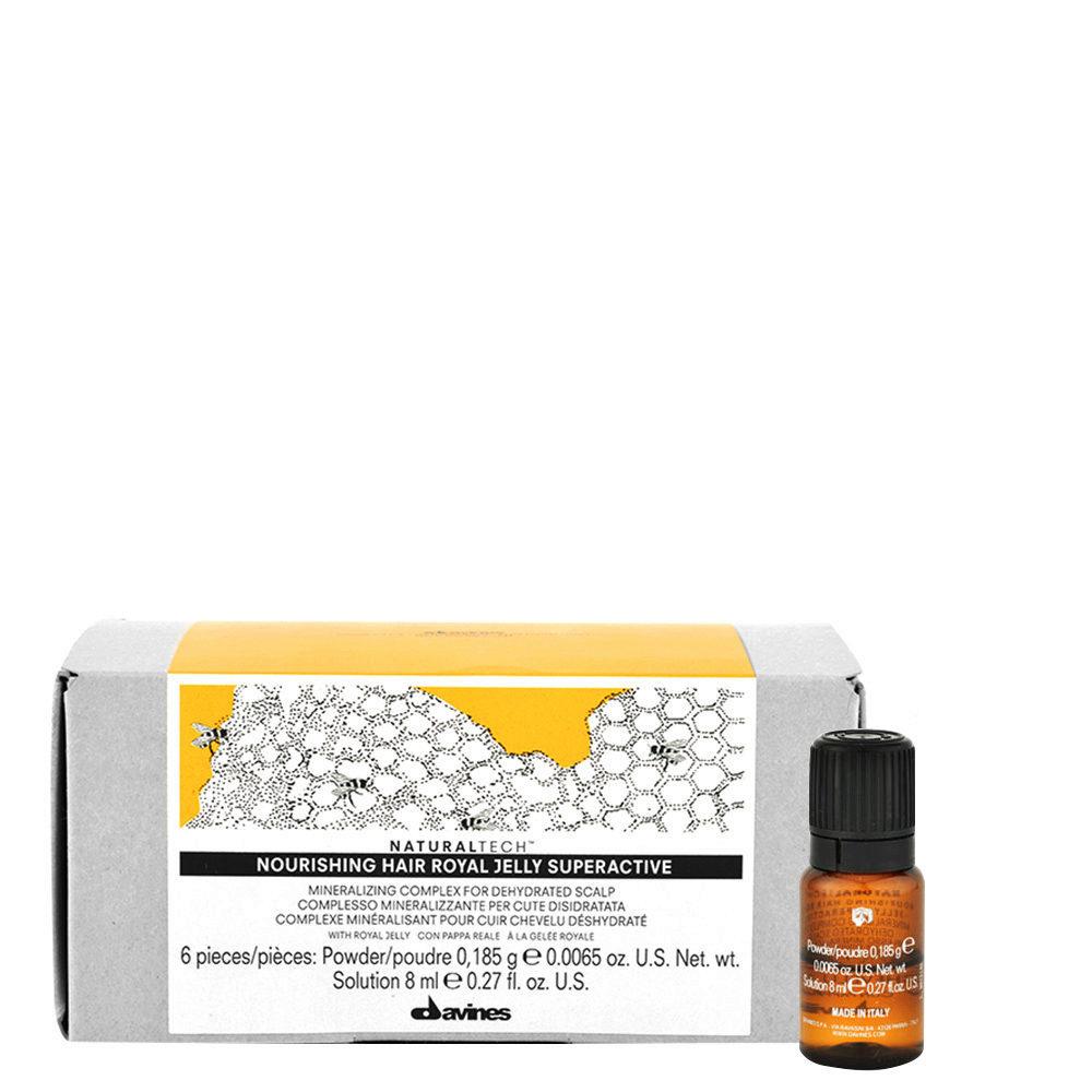 Davines Naturaltech Nourishing Royal Jelly Superactive 6x8ml - Traitement apaisant