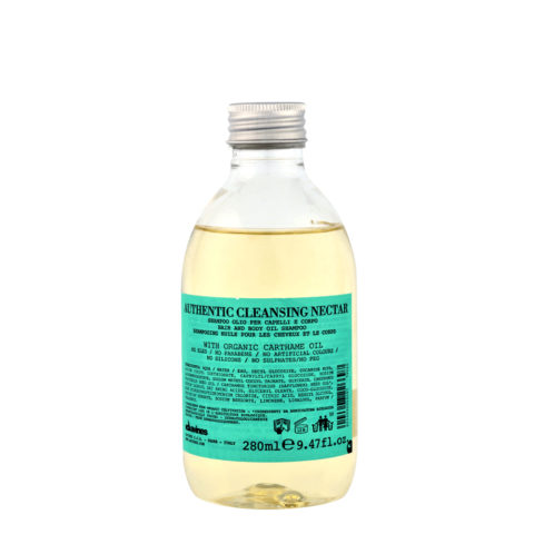 Davines Authentic Cleansing Nectar 280ml - Shampooing-Douche pour cheveux et corps