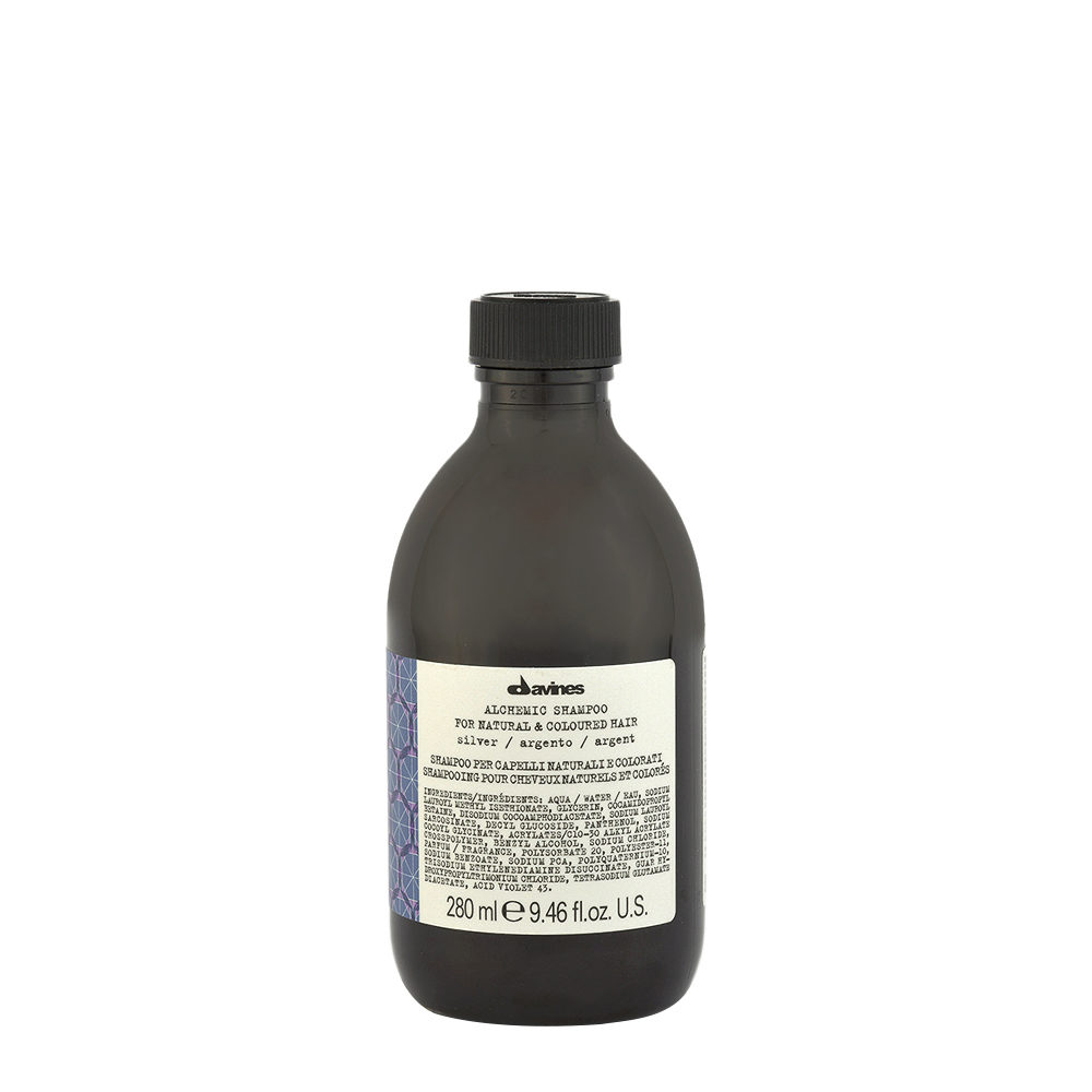 Davines Alchemic Shampoo Silver 280ml - Shampooing Pour Cheveux Platines