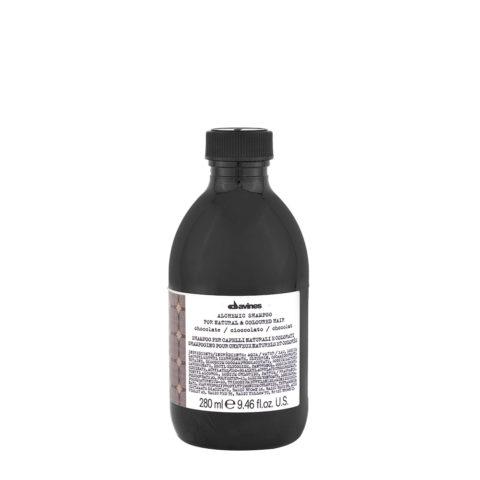 Davines Alchemic Shampoo Chocolate 280ml - Shampooing Cheveux Noirs