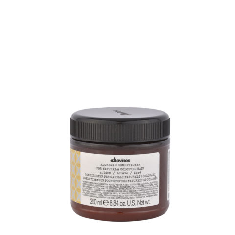 Davines Alchemic Conditioner Golden 250ml - Crème conditionnante colorée pour cheveux blonds dorés