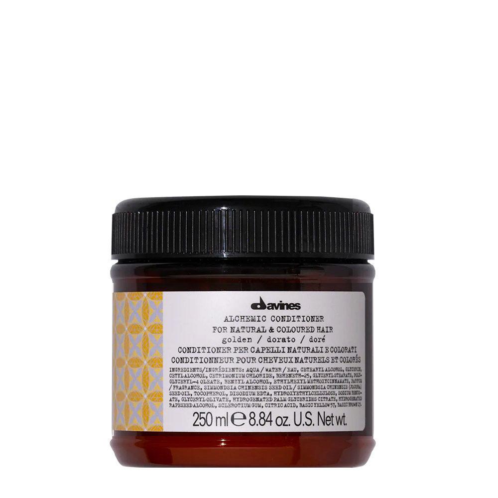 Davines Alchemic Conditioner Golden 250ml - Crème conditionnante colorée pour cheveux blonds dorés
