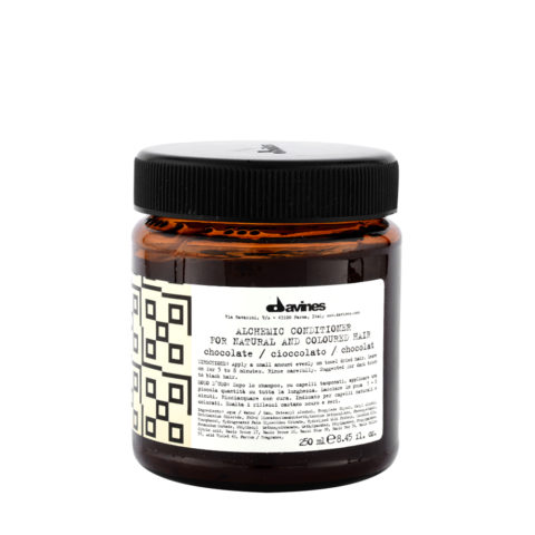Davines Alchemic Conditioner Chocolate 250ml - Crème conditionnante colorée cheveux noirs
