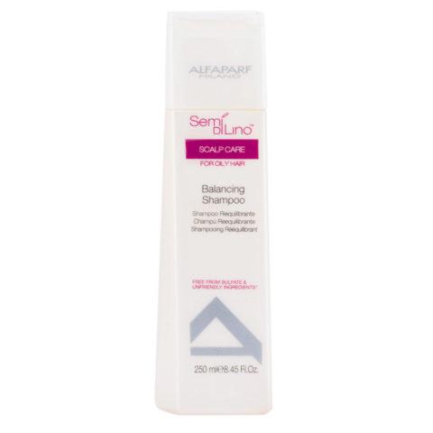 Alfaparf Semi di lino Scalp care Balancing shampoo 250ml - Shampooing équilibrant cheveux à tendance grasse