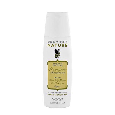 Alfaparf Precious nature Shampoo with Prickly pear & orange pour cheveux longs/lisses 250ml