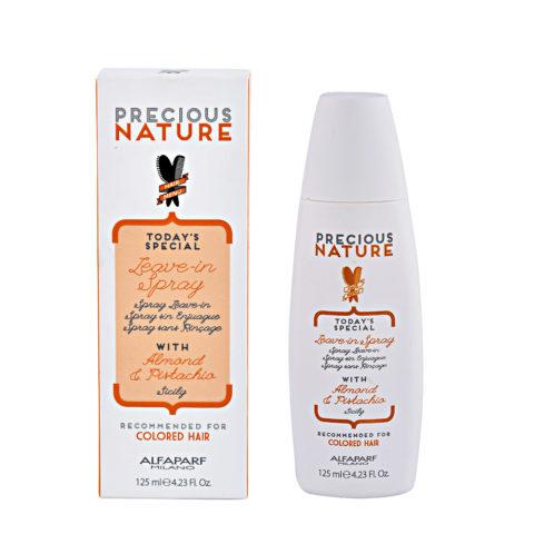 Alfaparf Precious nature Leave-in spray avec Huile d'amande & Essence de Pistache pour cheveux colorés 125ml