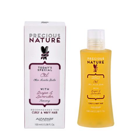Alfaparf Precious nature Oil with Grape & lavender pour cheveux Bouclés & Ondulés 100ml