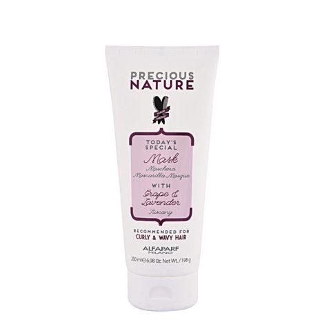 Alfaparf Precious nature Mask with Grape & lavender pour cheveux Bouclés & Ondulés 200ml - masque