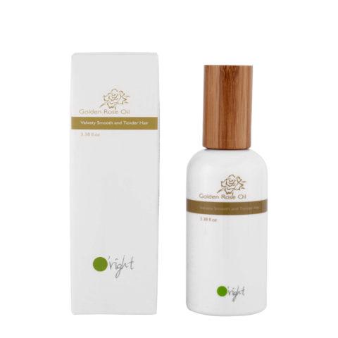 O'right Golden rose oil 100ml - huile cheveux épais, colorés et abîmés