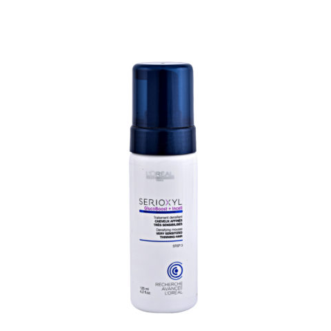 L'Oreal Serioxyl Aqua mousse Foam tech Densifying treatment cheveux trés sensibilisés 125ml