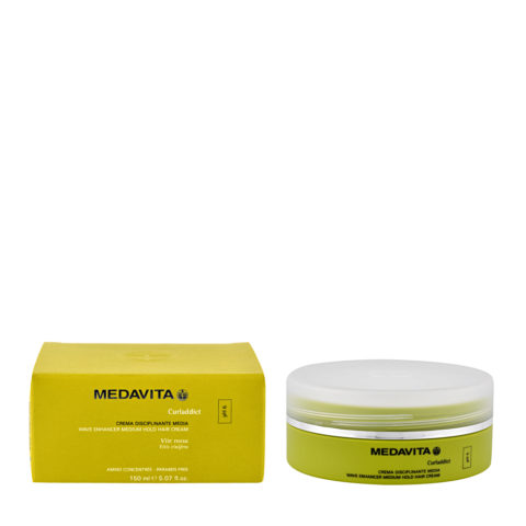 Medavita Lenghts Curladdict Wave enhancer medium hold hair cream pH 6  150ml - soin assouplissante