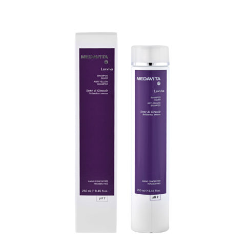 Medavita Lenghts Luxviva Anti-jaune shampooing pH 7,  250ml