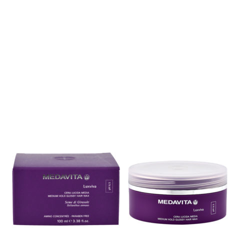 Medavita Lenghts Luxviva Medium hold glossy hair wax pH 6.5  100ml