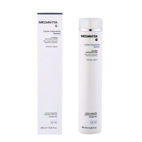 Medavita Scalp Lotion concentree homme Male anti-hair loss treating shampoo pH 4.8  250ml