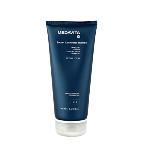 Medavita Cute Lotion concentree homme Light hold hair cream-gel pH 7  200ml - Crème gel légère