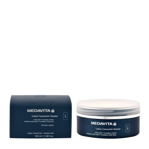 Medavita Cute Lotion concentree homme Strong hold matt playable hair wax pH 7  100ml - cire texture mate