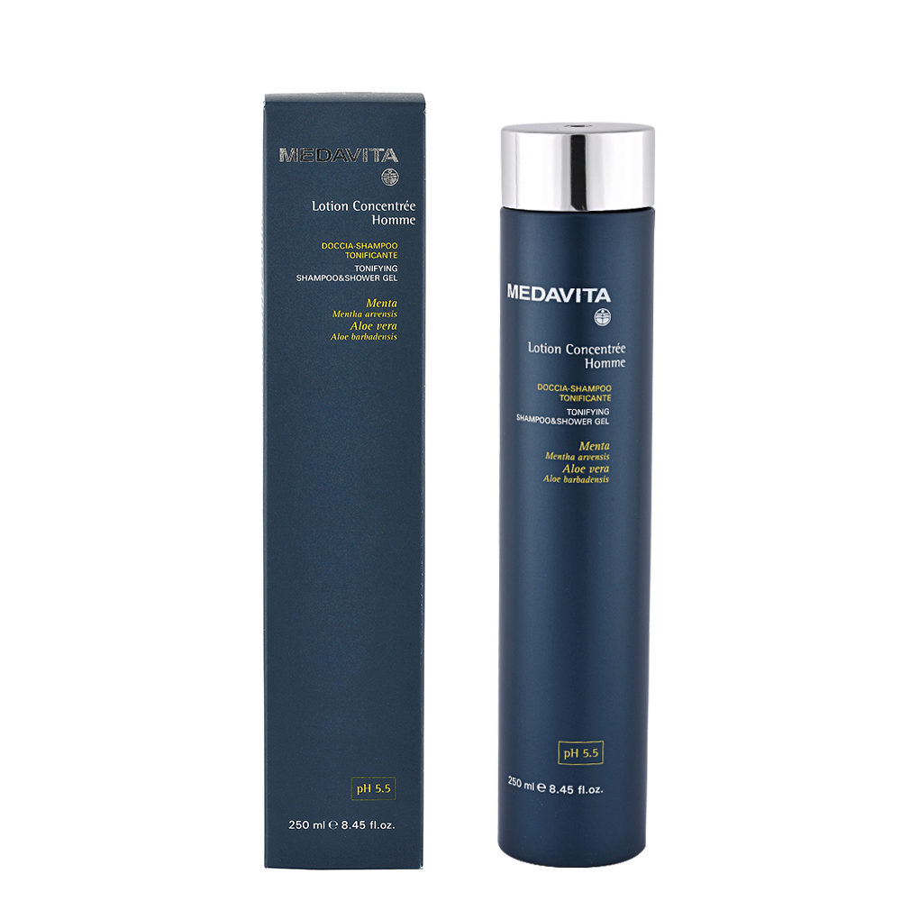 Medavita Scalp Lotion concentree homme shave Douche-Shampooing Tonifiant pH 5.5  250ml