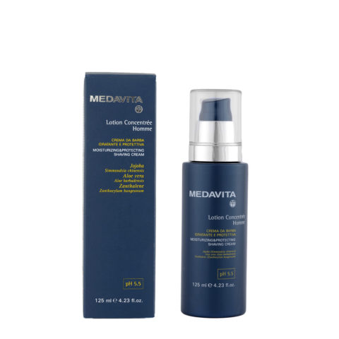 Medavita Scalp Lotion concentree homme shave Crème de rasage hydratante et de protection pH 5.5  125ml