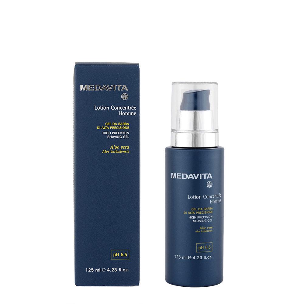 Medavita Scalp Lotion concentree homme shave Gel de rasage haute précision pH 6.5  125ml