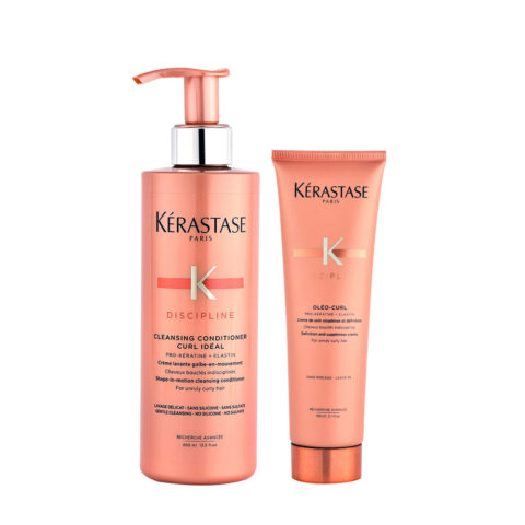 Kerastase Discipline Curl ideal Kit Cleansing conditioner 400ml Oléo curl 150ml