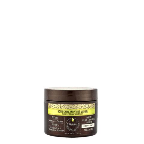 Macadamia Nourishing moisture Masque 60ml - Masque hydratant nutritif pour cheveux moyens à épais