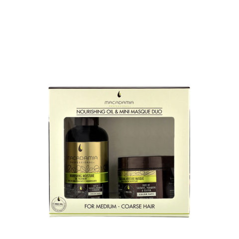 Macadamia Nourishing moisture Duo: Oil treatment 125ml Masque 60ml