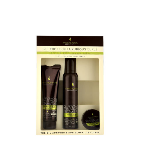 Macadamia Style kit Get the look Luxurious curls - 3 produits