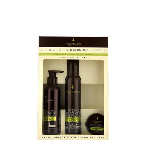 Macadamia Style kit Get the look Voluminous blowout - 3 produits