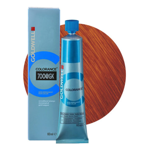 7OO@Gk Sensational orange elumenated gold copper Goldwell Colorance Elumenated naturals tb 60ml
