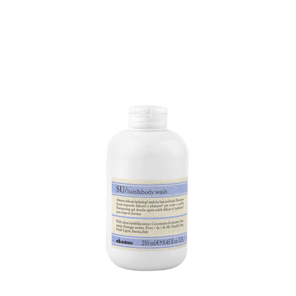 Davines SU Hair and Body Wash 250ml - Shampooing-Douche pour cheveux et corps