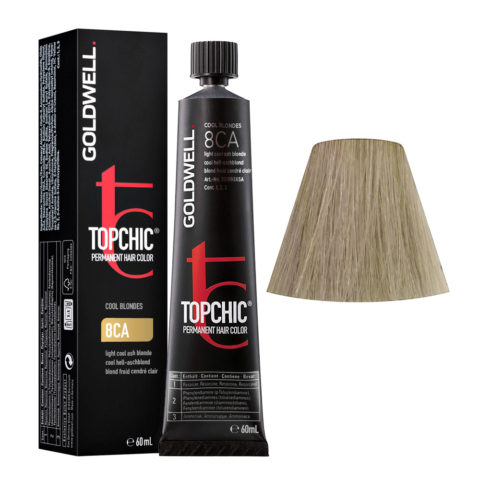 8CA Blond froid cendré clair Goldwell Topchic Cool blondes tb 60ml