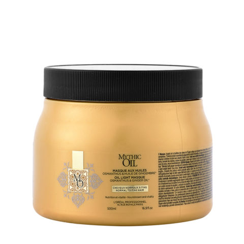L'Oreal Mythic oil Light masque Cheveux normaux à fins 500ml