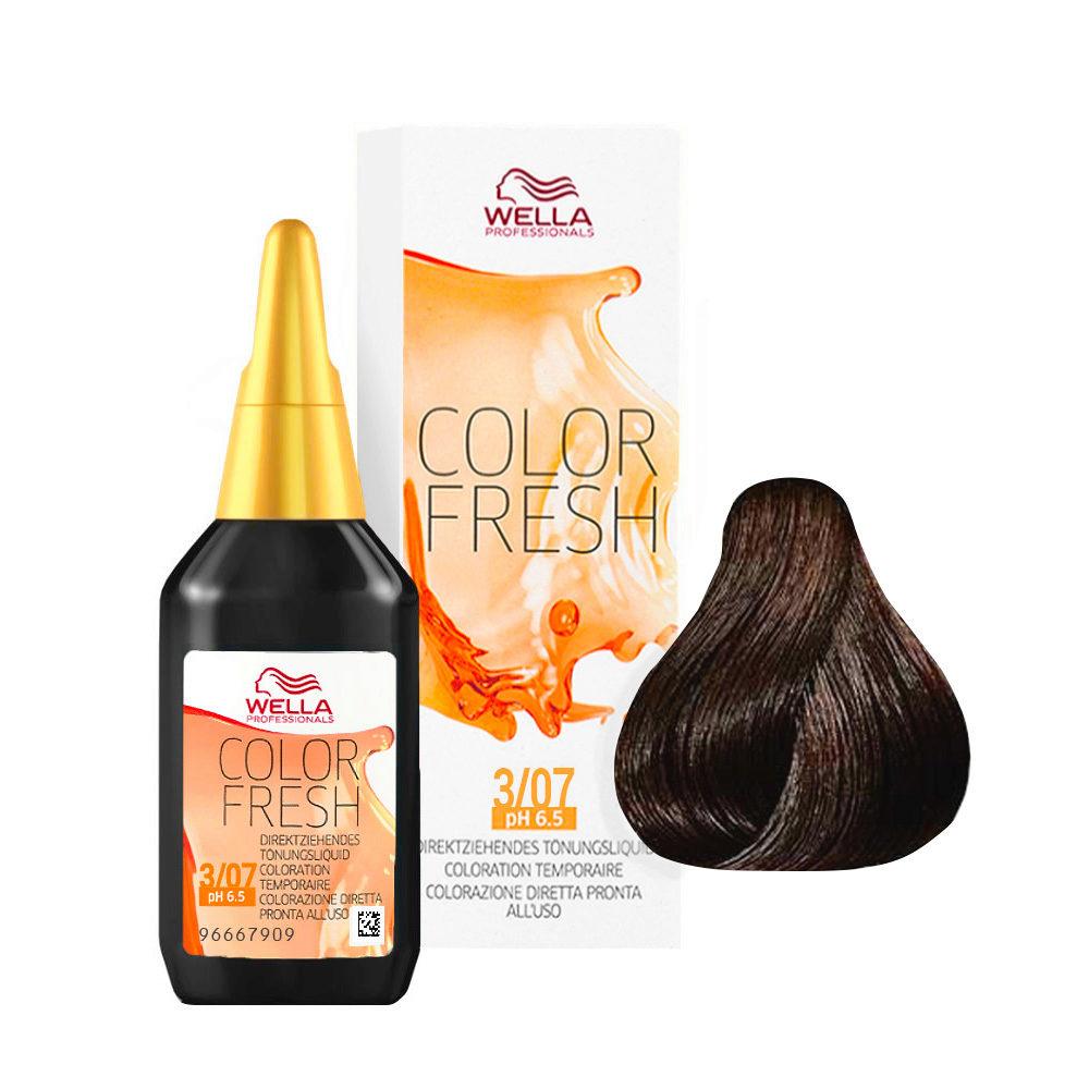 3/07 Châtain foncé naturel marron Wella Color fresh 75ml