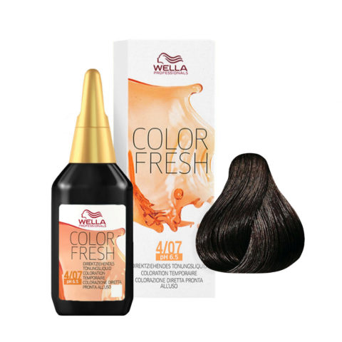 4/07 Châtain moyen naturel marron Wella Color fresh 75ml
