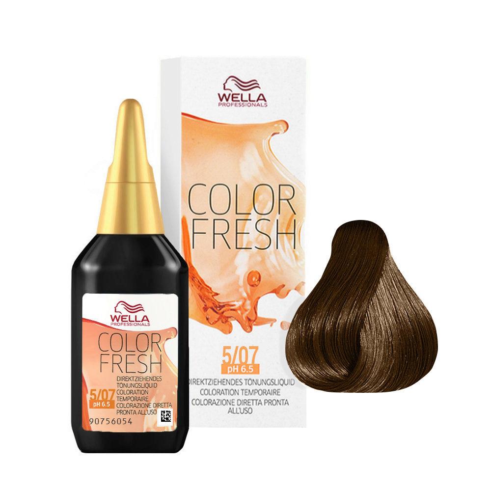 5/07 Châtain clair naturel marron Wella Color fresh 75ml