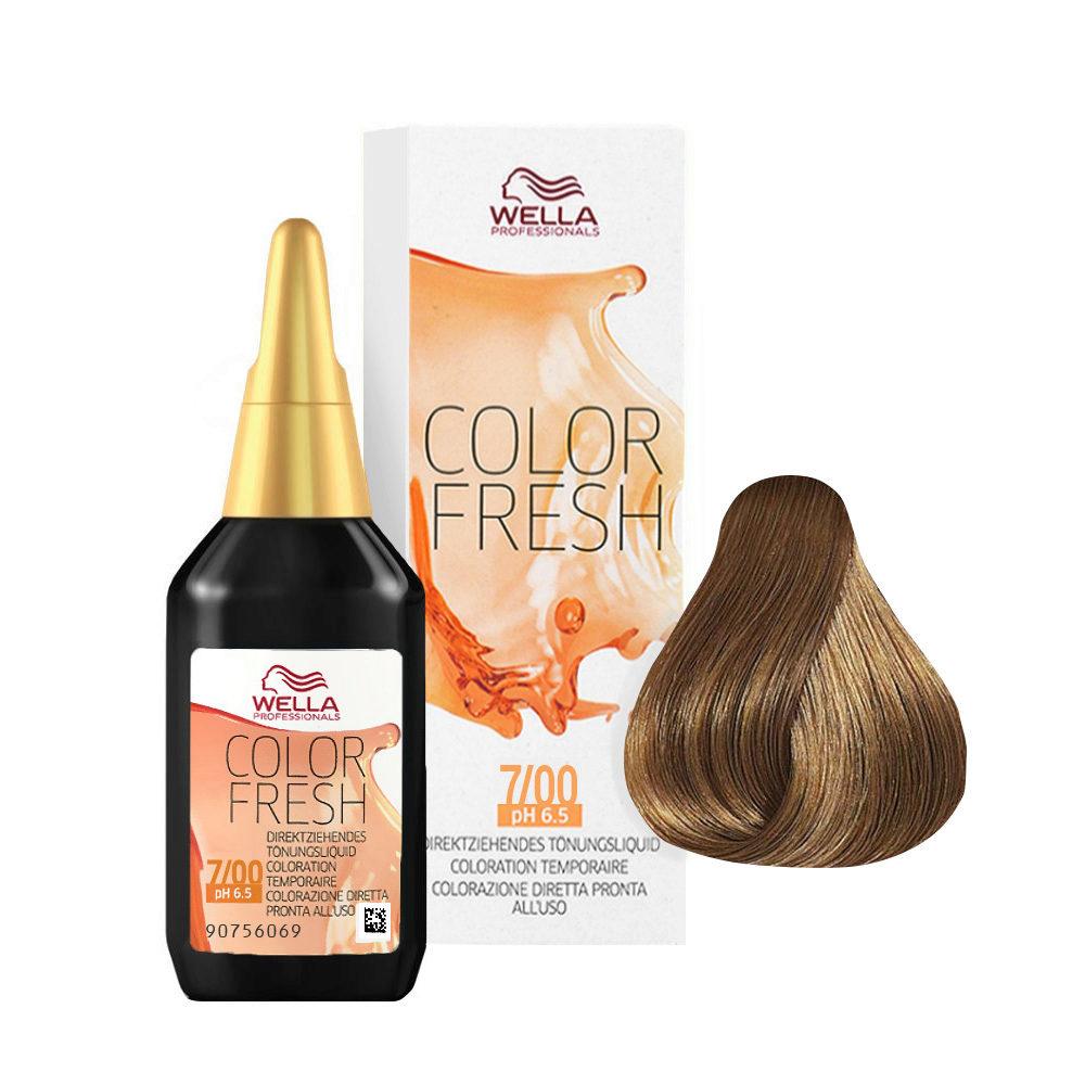 7/00 Blond moyen naturel Wella Color fresh 75ml