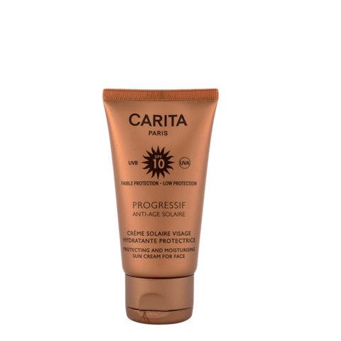 Carita Skincare Crème Solaire Visage Hydratante Protectrice SPF 10, 50ml