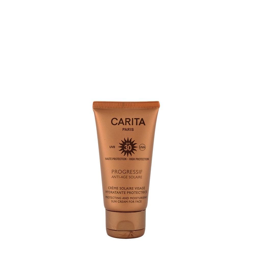 Carita Skincare Crème Solaire Visage Hydratante Protectrice SPF 30, 50ml