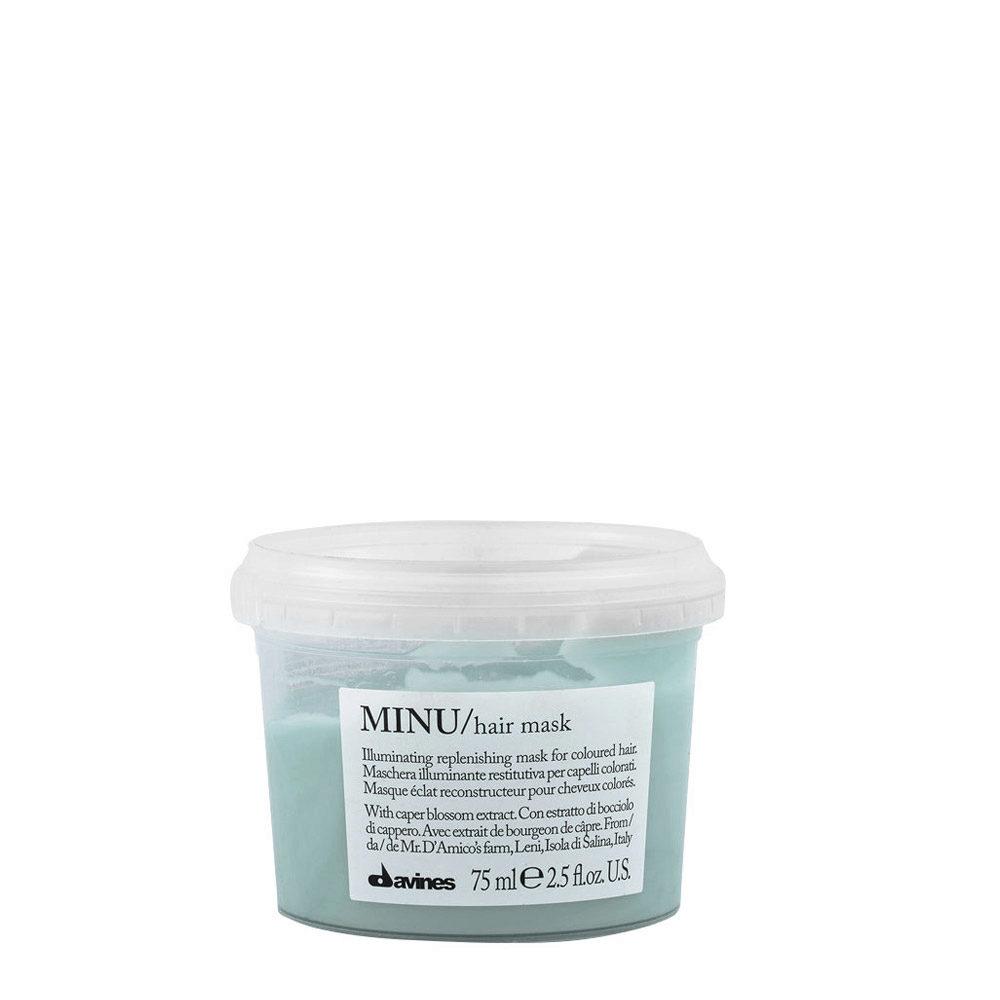 Davines Essential hair care Minu Hair mask 75ml - Masque illuminant